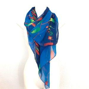 Accessories - Geometric modern art print square scarf 60 inch